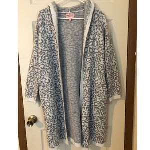 Juicy Couture Hooded Cardigan Leopard Print XL